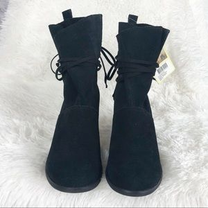 NWT Toms Mila black suede boots 7.5